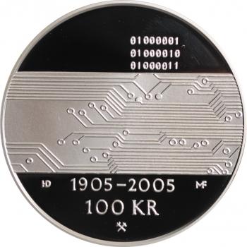 ГДР 5 марок 1979 г., UNC, '100 лет со дня рождения Альберта Эйнштейна'