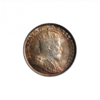 "Канада 5 центов 1902 г. H, BU, ""Король Эдуард VII (1902 - 1910)"""