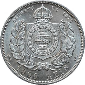 "Бразилия 1000 реалов 1888 г., UNC, ""Император Педро II (1831 - 1889)"""