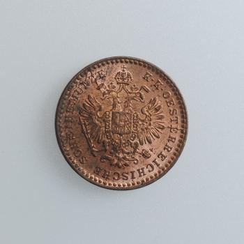 "Австро-Венгрия 5/10 крейцера 1864 г. A, UNC, ""Император Франц Иосиф I (1848 - 1916)"""