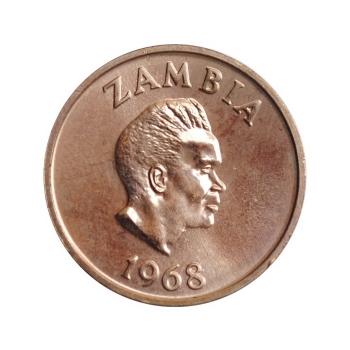 "Замбия 2 нгве 1968 г., PROOF, ""Президент Кеннет Каунда (1964 - 1991)"""