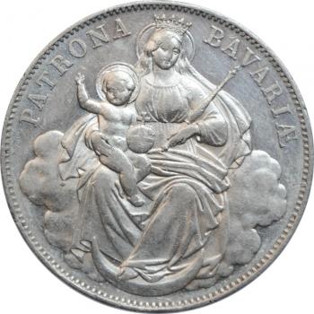 """Бавария 1 талер ND-1865 г., AU, """"Король Людвиг II (1864 - 1886)"""""""