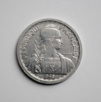 Индокитай 10 сантимов 1945 г. A, UNC, 'Французский Индокитай (1885-1954)'