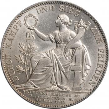 "Бавария 1 талер 1871 г., UNC, ""Победа Германии во Франко-прусской войне"""