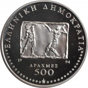 "Австро-Венгрия 4 крейцера 1864 г. B, UNC, ""Император Франц Иосиф I (1848 - 1916)"""