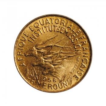 """Французская Экваториальная Африка 5 франков 1958 г., BU, """"Колония Франции (1942 - 1958)"""""""