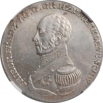 """Мекленбург-Шверин 2/3 талера 1826 г., NGC MS64, """"Великий герцог Фридрих Франц I (1785 - 1837)"""""""