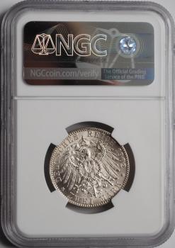 Саксония 2 марки 1902 г., NGC MS65+, 'Смерть Альберта Саксонского'