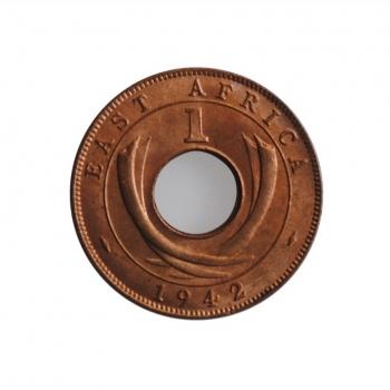 """Британская Восточная Африка 1 цент 1942 г., BU, """"Король Георг VI (1937 - 1952)"""""""