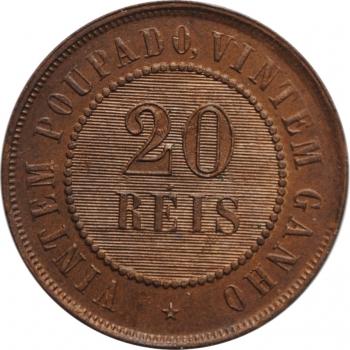 """Бразилия 20 рейсов 1889 г., BU, """"Первая Республика (1889 - 1942)"""""""