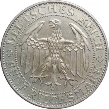 """Веймарская Республика 5 рейхсмарок 1929 г. E, XF, """"1000 лет Мейсену"""""""