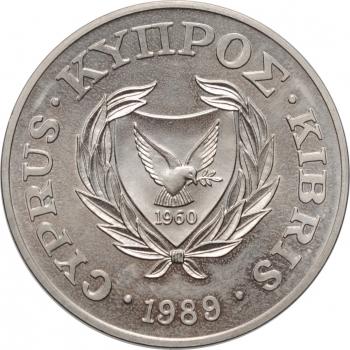 """Кипр 1 фунт 1989, BU, """"III Игры малых государств Европы"""""""