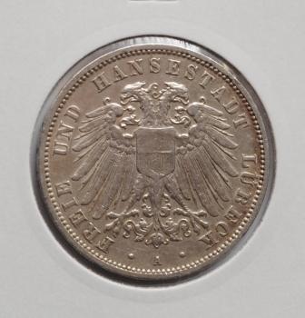 Любек 3 марки 1911 г., РЕДКАЯ + СОСТОЯНИЕ