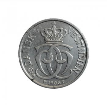 """Датская Вест-Индия 5 центов 1905 г., AU, """"Король Кристиан IX (1863 - 1906)"""""""