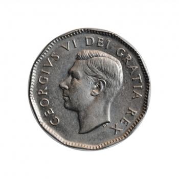 "Канада 5 центов 1949 г., AU, ""Король Георг VI (1937 - 1952)"""