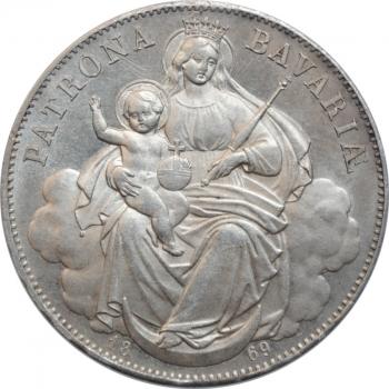 """Бавария 1 талер 1869 г., UNC, """"Король Людвиг II (1864 - 1886)"""""""
