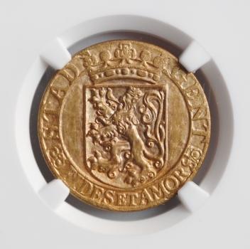 """Бельгия 2 франка 1918 г., NGC MS64, """"Германская оккупация города Гент (1915 - 1918)"""""""
