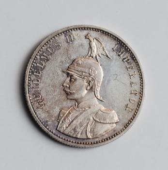 """Германская Восточная Африка 1 рупия 1890 г., UNC, """"Император Вильгельм II (1888 - 1918)"""""""