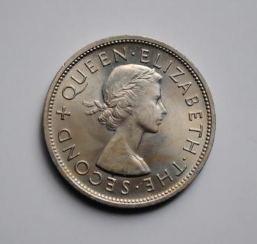 Новая Зеландия 1 крона 1953 г., BU, 'Королева Елизавета II (1953 - 1966)'