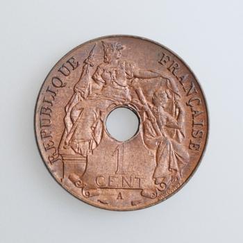 "Индокитай 1 сантим 1939 г. A, UNC, ""Французский Индокитай (1885 - 1954)"""