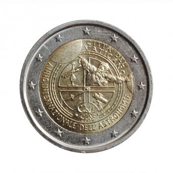 """Ватикан 2 евро 2009 г., UNC, """"Международный год астрономии"""""""