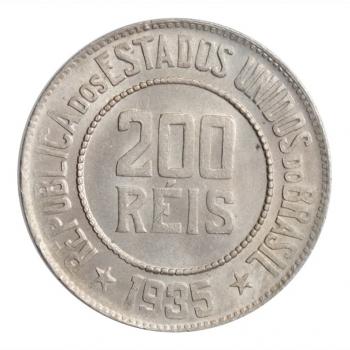 """Бразилия 200 рейсов 1935 г., BU, """"Первая Республика (1889 - 1942)"""""""