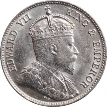 """Гонконг 10 центов 1902 г., UNC, """"Король Эдуард VII (1902 - 1910)"""""""