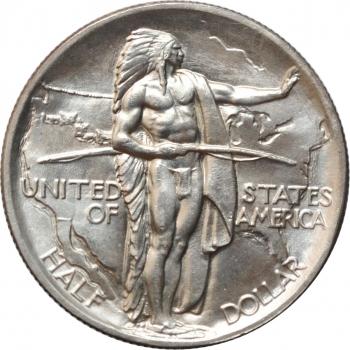 """США 50 центов 1936 г., BU, """"Мемориал Орегонская Тропа"""""""