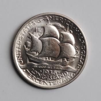 США 50 центов 1936 г., UNC, '300 лет Лонг-Айленду'