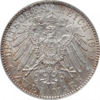 """Австрия 2 шиллинга 1935 г., BU, """"25 лет со дня смерти Карла Люгера"""""""