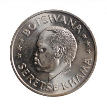 """Ботсвана 50 центов 1966 г., BU, """"Независимость"""""""