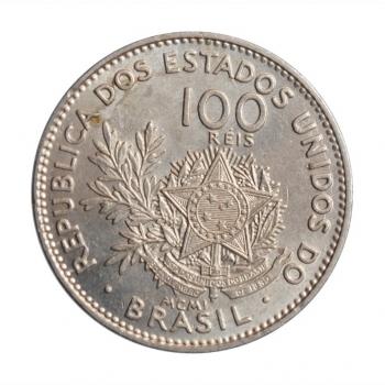 """Бразилия 100 рейсов 1901 г., BU, """"Первая Республика (1889 - 1942)"""""""