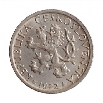 """Чехословакия 1 крона 1922 г., BU, """"Первая Республика (1919 - 1938)"""""""