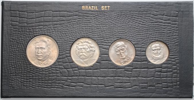 """Бразилия набор 100, 200, 300, 400 рейсов 1937 г., BU, """"Первая Республика (1889 - 1942)"""""""
