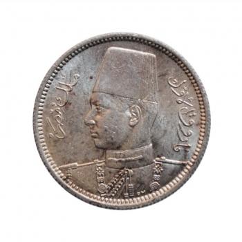 """Египет 2 пиастра 1937 г., UNC, """"Король Фарук I (1936 - 1952)"""""""