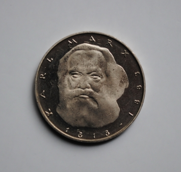 ФРГ 5 марок 1983 г., PROOF, '100 лет со дня смерти Карла Маркса'