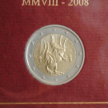 """Ватикан 2 евро 2008 г., BU, """"Год святого Апостола Павла"""""""