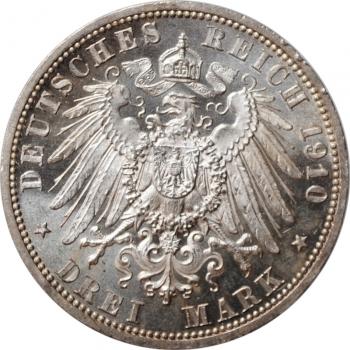 """Саксен-Веймар-Эйзенах 3 марки 1910 г., BU, """"Свадьба Вильгельма и Феодоры"""""""
