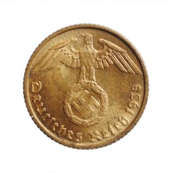 """Германия - Третий рейх 5 рейхспфеннигов 1938 г. D, BU, """"Нацистская Германия (1933 - 1945)"""""""