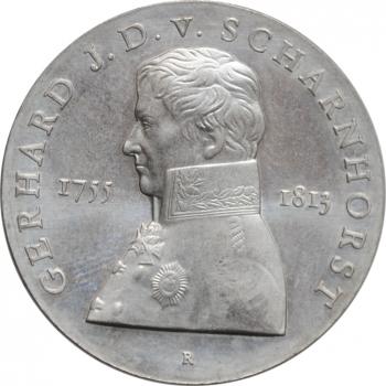 """ГДР 10 марок 1980 г., BU, """"225 лет со дня рождения Герхарда фон Шарнхорста"""""""