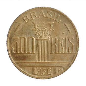 """Бразилия 500 рейсов 1936 г., UNC, """"Первая Республика (1889 - 1942)"""""""