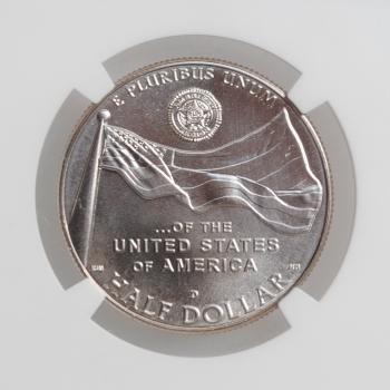 """США 50 центов 2019 г., NGC MS69, """"100 лет американскому легиону"""""""