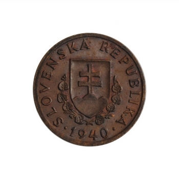 """Словакия 20 геллеров 1940 г., UNC, """"Словацкая Республика (1939 - 1945)"""""""