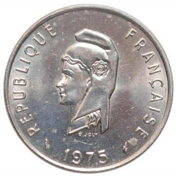 """Французские Афар и Исса 50 франков 1975 г., UNC, """"Заморская территория Франции (1968 - 1975)"""""""