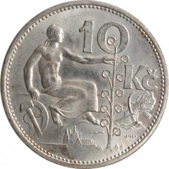 """Чехословакия 10 крон 1931 г., UNC, """"Первая Республика (1919 - 1938)"""""""