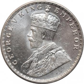 """Индия - Британская 1 рупия 1919 г., BU, """"Король Георг V (1911 - 1937)"""""""