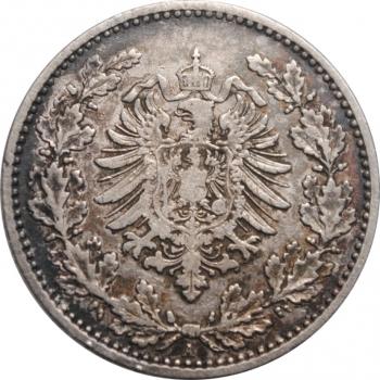 """Германия 50 пфеннигов 1877 г. A, VF, """"Германская Империя (1871 - 1922)"""""""