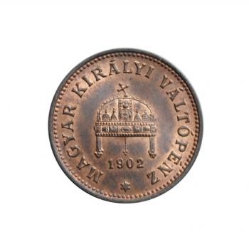 """Венгрия 1 филлер 1902 г., UNC, """"Император Франц Иосиф (1848 - 1916)"""""""