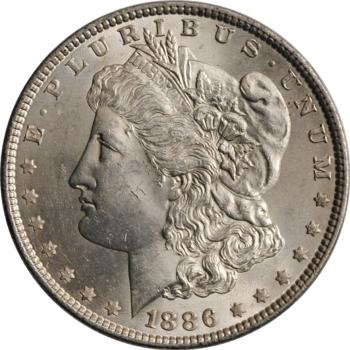 "США 1 доллар 1886 г., BU, ""Доллар Моргана"""