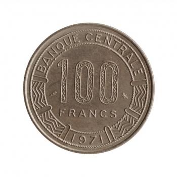 """Камерун 100 франков 1971 г., UNC, """"Франк КФА (1958 - 1973)"""""""